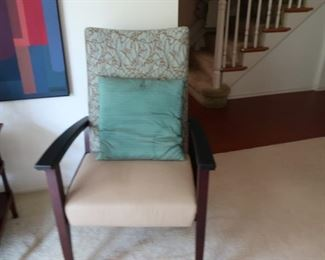 10  chair with  branch  pattern  fabric  on upper  part-price  is  60.00