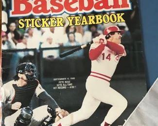 baseball sticker yearbook