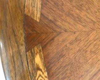 Lane table close up