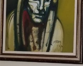 Brazilian Artist Albery signed a dated 1986 Lots of infirmation on  Google THIS IS AN APPT ONLY SALE DUE TO CITY RESTRICTIONS..  Text 626 676 4202  for Appt. Thanks MUST  wear a  MASK AND SD ENFORCED  This is a huge sale stillunloading