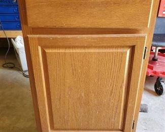 Single Kitchen Cabinet Base - One Drawer - Swings Left