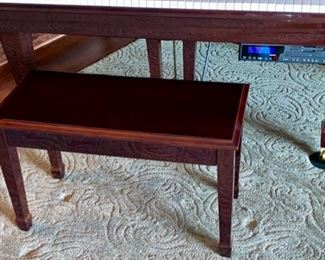 Lot 1500  Asking $7,500.00. Beautiful Piano Bench with Storage under Seat