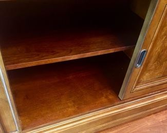 Lot 1501 Asking $4,250.00  Ethan Allen Townhouse Hutch Storage for China, Crystal, etc.