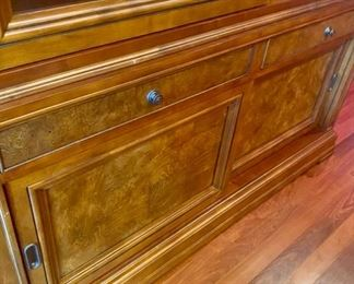 Lot 1501 Asking $4,250.00  Ethan Allen Townhouse China Hutch/Cabinet