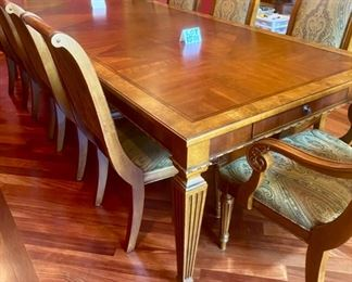Lot 1501 Asking $4,250.00  Ethan Allen Townhouse Dining Table