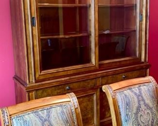 Lot 1501 Asking $4,250.00  Ethan Allen Townhouse Sliding Door China/Hutch