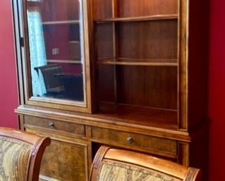 Lot 1501 Asking $4,250.00  Ethan Allen Townhouse Sliding Door China/Hutch. Must Sell!