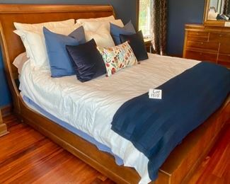 "Lot 1515A  Asking $800.00.     Tom's Price Bed by Virginia Sterling Co.          Lot 1515B. Asking $900.00. Penny Mustard King ""Moscato"" Mattress and 2 Twin XL Flexsteel Box Springs.  Incredibly comfortable.  Bedding not included"