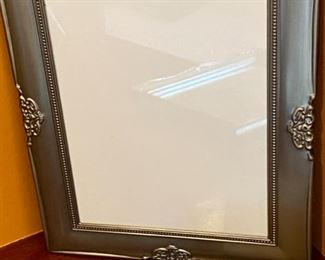 "Lot 1542    $25.00  3 Pc Lot.  3 Brushed Nickel Picture Frames for 8"" x 10"" Photos"