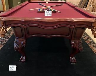 "Lot 1560  Asking $995.00  Peter Vitalie Co. ""Gore Gulch Select""  Premier Pool Table,"