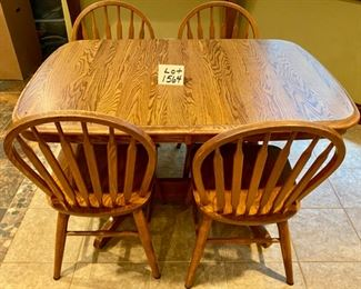 Lot 1564  $275.00. Voila! A smaller table!  Shown without Leaf.