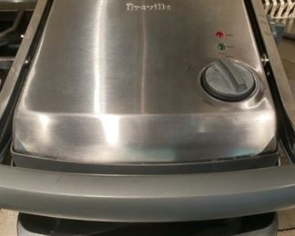 Lot 1554  $45.00  Breville Panini Grill #TG425XL W/Instruction booklet, Excellent Condition, with Grill Cleaner Tool, drip tray in Brushed Stainless Steel.