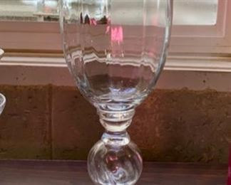 "Lot 1594 $25.00. Tall Glass Vase 20"" H  x 11.5"" W at top. Elegant look and feel."