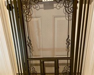 "Lot 1599 $90.00. FrontGate Dual Door Mesh Pet Gate. 42"" H Tension Mount.  Crafted with Fine Mesh Panels, Steel Frame, Auto Close.  Fits Doorway 33.5"" - 37.5"".  FrontGate Price is $159.20.  Yes we have 2."