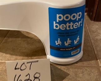 Lot 1628.  Asking $12.  What self-respecting estate sale doesn't try to sell a Squatty Potty?   What more can we say, lol.  Still, don't knock it if you haven't tried it!  Sanitized.