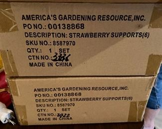 Lot 1633  Asking $20.  Outdoor Strawberry Supports - 2 Sets of 6 in each box originally $18.95 ea.