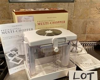Lot 1605.  Asking $25.  Correction on Number - so sorry!   Williams Sonoma Professional Multi Food Chopper in the Box