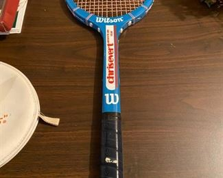 Lot 1637. Asking $22.00.   Vintage Chris Evert Wooden Tennis Racket by Wilson,  American Star - use for decor or nostalgia - great for hanging on the wall - see further photos!