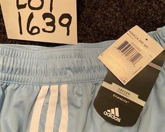 Lot 1639. Adidas Soccer Shorts Outfit, Brand New-  Kids Size Large Sz 12-14.
