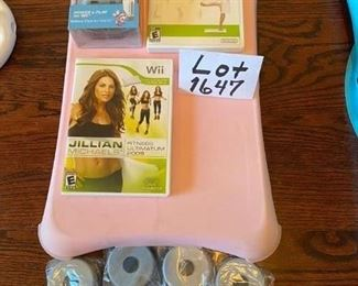 Lot 1647 $42.00  Wii Fit Board with Pink Skin, includes: Wii Fit. and Jillian Fitness Program.  Bonus Energizer Battery Pack for the Wii Fit Board.