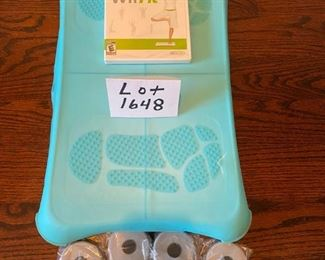 Lot 1648  $25.00. Wii Fit with Turquoise Skin and Brand New Sealed Wii Fit Game