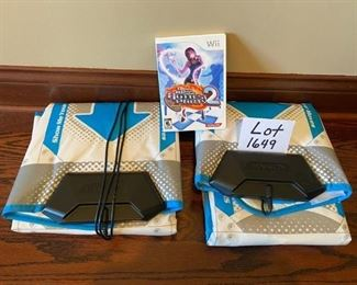 Lot 1649  $38.00. 2 Konami Dance Pads and Dance Dance Revolution Hottest Party 2 Game.