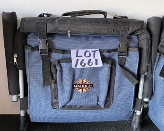 Lot 1661. $24.00 Pair of Quest Portable Camper Chairs with shoulder straps