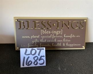 Lot 1685. $15.00   3 inspirational signs :LOVE, HOPE , BLESSINGS