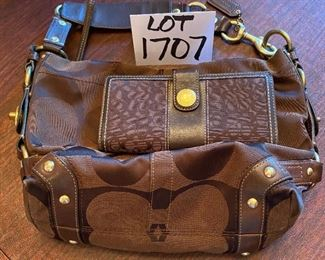Lot 1707 $55.00. Brown Coach Wallet and very nice Coach shoulder bag