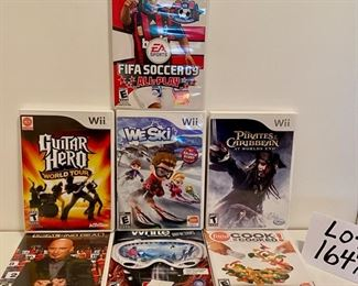 LOT 1649C.  $35.00. LOT OF 7  WII GAMES.