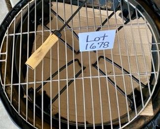 "Lot 1678. $40.00.  Portable Fire Pit with Storage Bag 24"" Diameter Pit and Grill"
