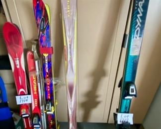 Group shot of our Snow Ski Collection in 3 Different Lots