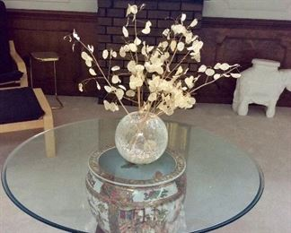 lovely fishbowl tables, there is a matching pair