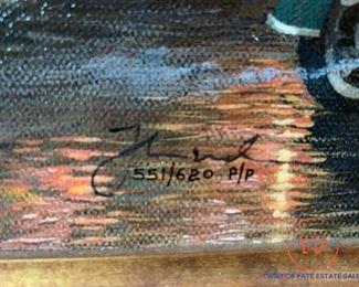 "THOMAS KINKADE ""San Francisco, Lombard Street"" PUBLISHER PROOF on Canvas Limited Edition"
