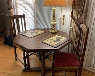 Nice little accent table with chairs and lamp