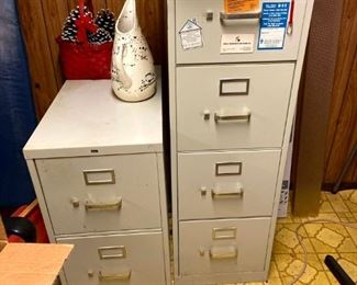 Two file cabinets $10, $15