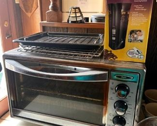 Toaster oven, coffee grinder