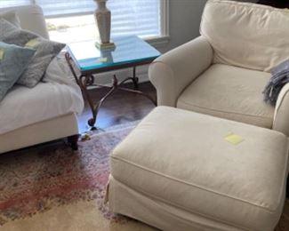 Sofa chair with ottoman
