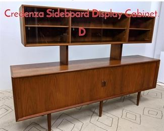 Lot 1000 Long KNUD NIELSEN Credenza Sideboard Display Cabinet. D