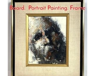 Lot 1005 KIRSCH OIL Painting on Board. Portrait Painting. Frame