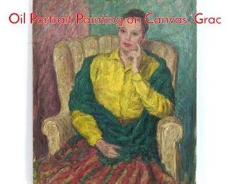 Lot 1004 RICHARD SHMUECKLE Oil Portrait Painting on Canvas. Grac