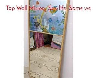 Lot 1007 M STROMBORN Painted Top Wall Mirror. Sea life. Some we