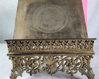 Antique Silvered Book Stand