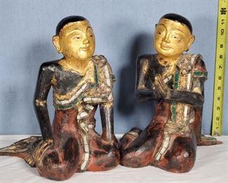 Art Ethnic Thai Monks