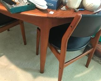 Mid Century Dining Table with 6 Chairs Danish Teak
