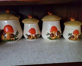 70's Mushroom Cannisters