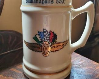 2002 Indy 500 mug with list of winners