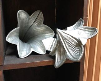 Pewter Ice cream Mold - Easter Lily