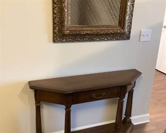 Vintage Framed Mirror and Console