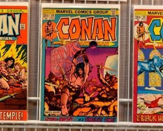 Lot 258: Marvel Comic ,Early Conan The Barbarian , artist Barry Windsour Smith , #18,19,20,22,25, : 5 Books